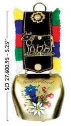 Mini Cow Bell with Alpine Flowers and Cow