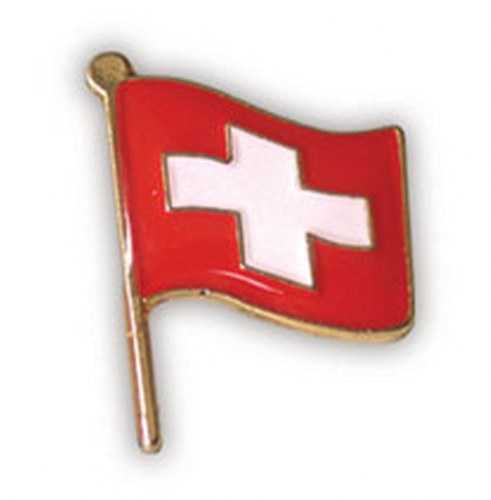 Waving Swiss Flag Pin