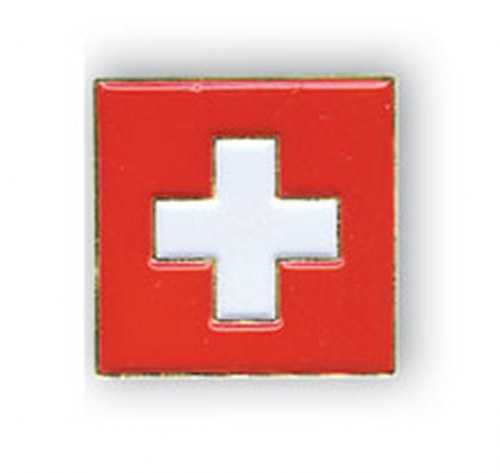 Swiss Flag- Square Pin