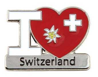 I Love Switzerland Pin