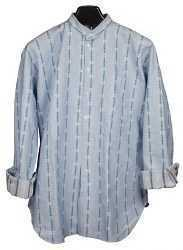 Swiss Traditional Edelweiss Shirt - Light Blue LS