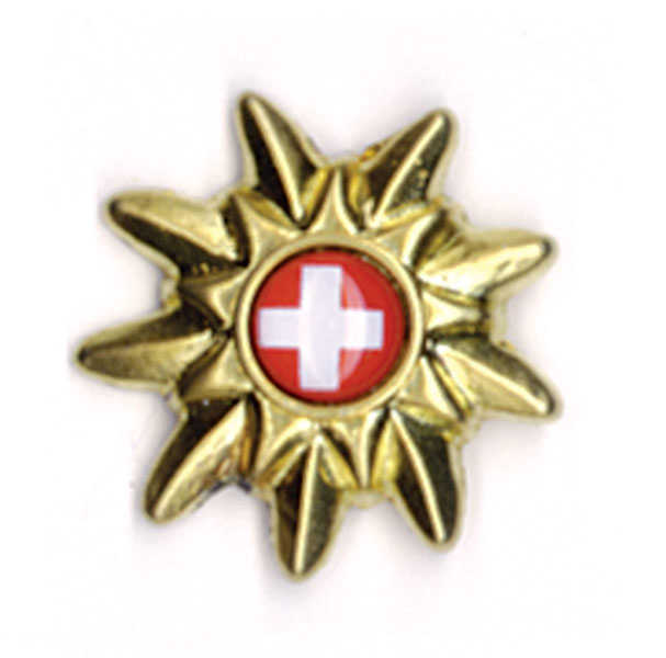 Swiss Cross/Golden Edelweiss