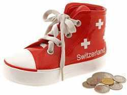 Swiss Bank - Red Tennis-Shoe