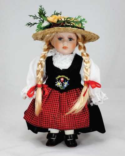 Swiss Porcelain Folklore Doll