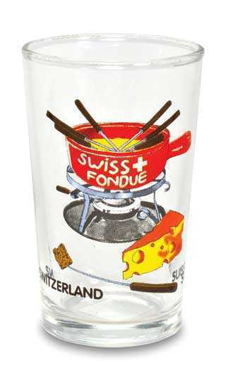 Swiss White Wine Glasses-Swiss Fondue Set