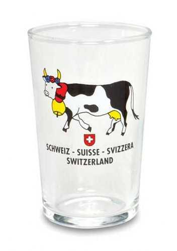 White Wine Glasses - Cow with Bell