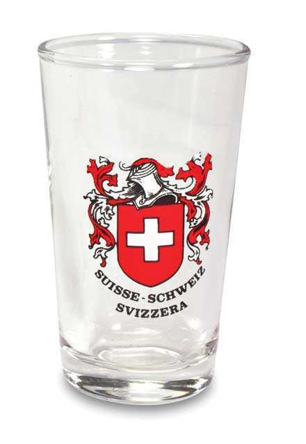 Swiss White Wine Glasses - Swiss Canton Crest