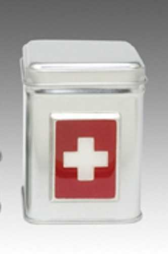 Aluminum Tin tall/w Swiss Cross