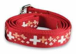 Dog Leash with Swiss Cross - wide