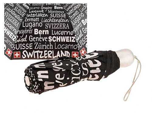 Black Swiss Umbrella