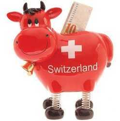 """Springy"" The Swiss Cow Bank"