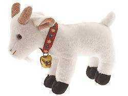 Stuffed Alpine Goat  white with Bell
