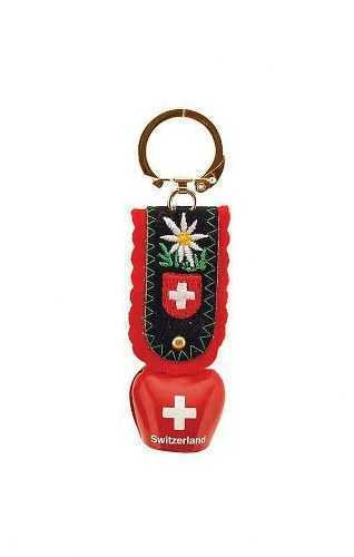 Swiss Key Ring - Red Mini Cow Bell