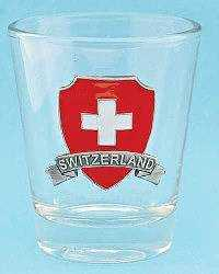 Swiss Shield Shot Glass