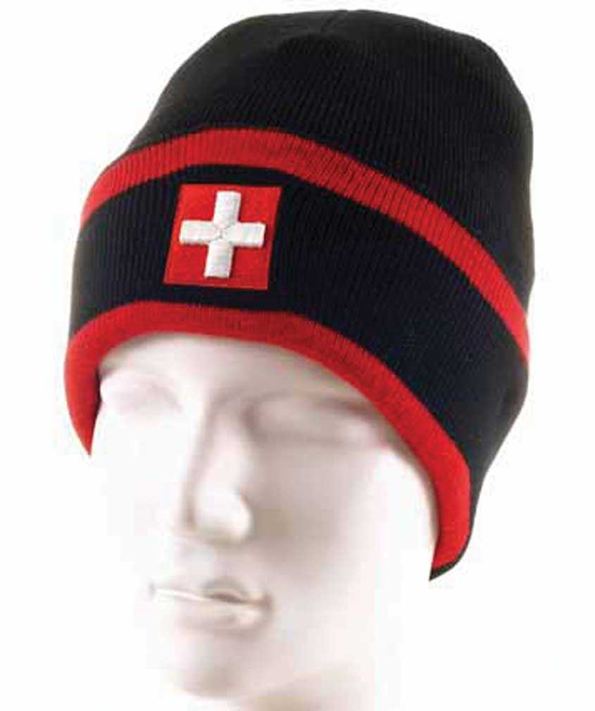 Knit Hat - Black/Red