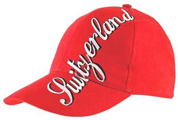 "Red Baseball Cap - ""SWITZERLAND"""