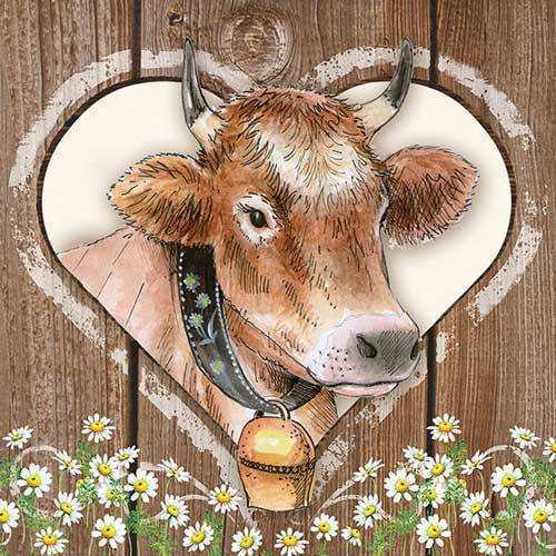 Cow with Bell Napkins