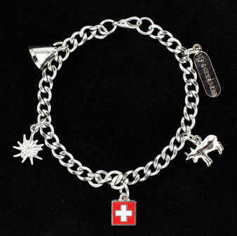 Bracelet with Swiss Charms