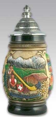 Classic Beer Steins Alpine mountain
