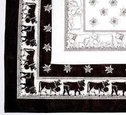 Scarf - Edelweiss and Cows Design