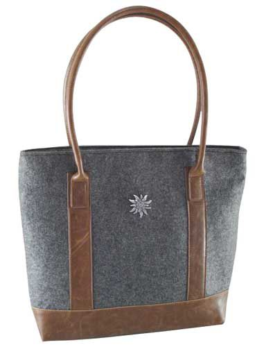 Mixed Felt Fabric Shoulder Bag