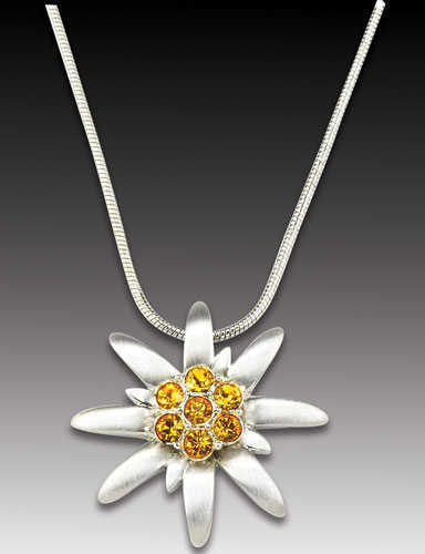Edelweiss Necklace with Heidi Pendant