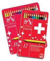 Caran d'Ache of Switzerland - 18-Color Pencil Sets