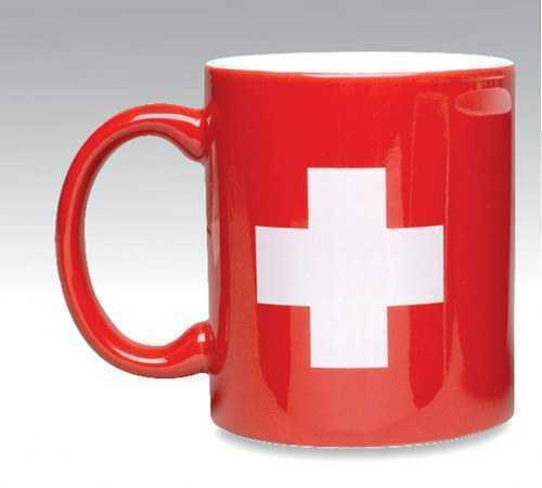 Coffee Mug - Red Swiss National