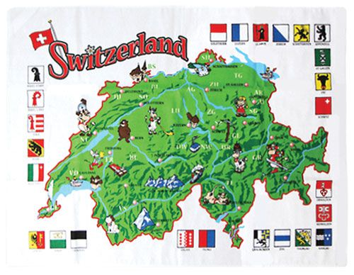 Swiss Map Towel