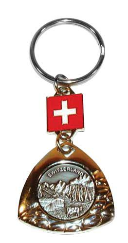 Alpine Scene Key Ring