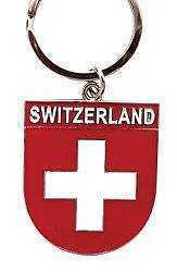 Swiss Shield Key Ring