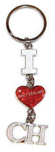 I Heart CH Key Ring