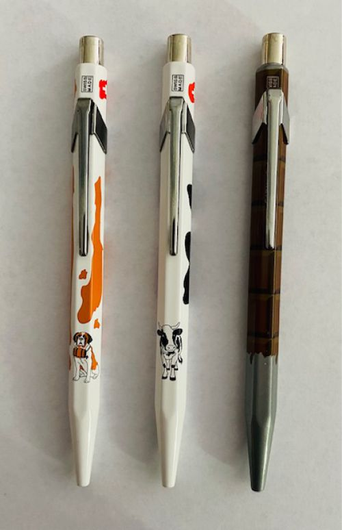 Caran d'Ache of Switzerland - Metal Ball Point Pens