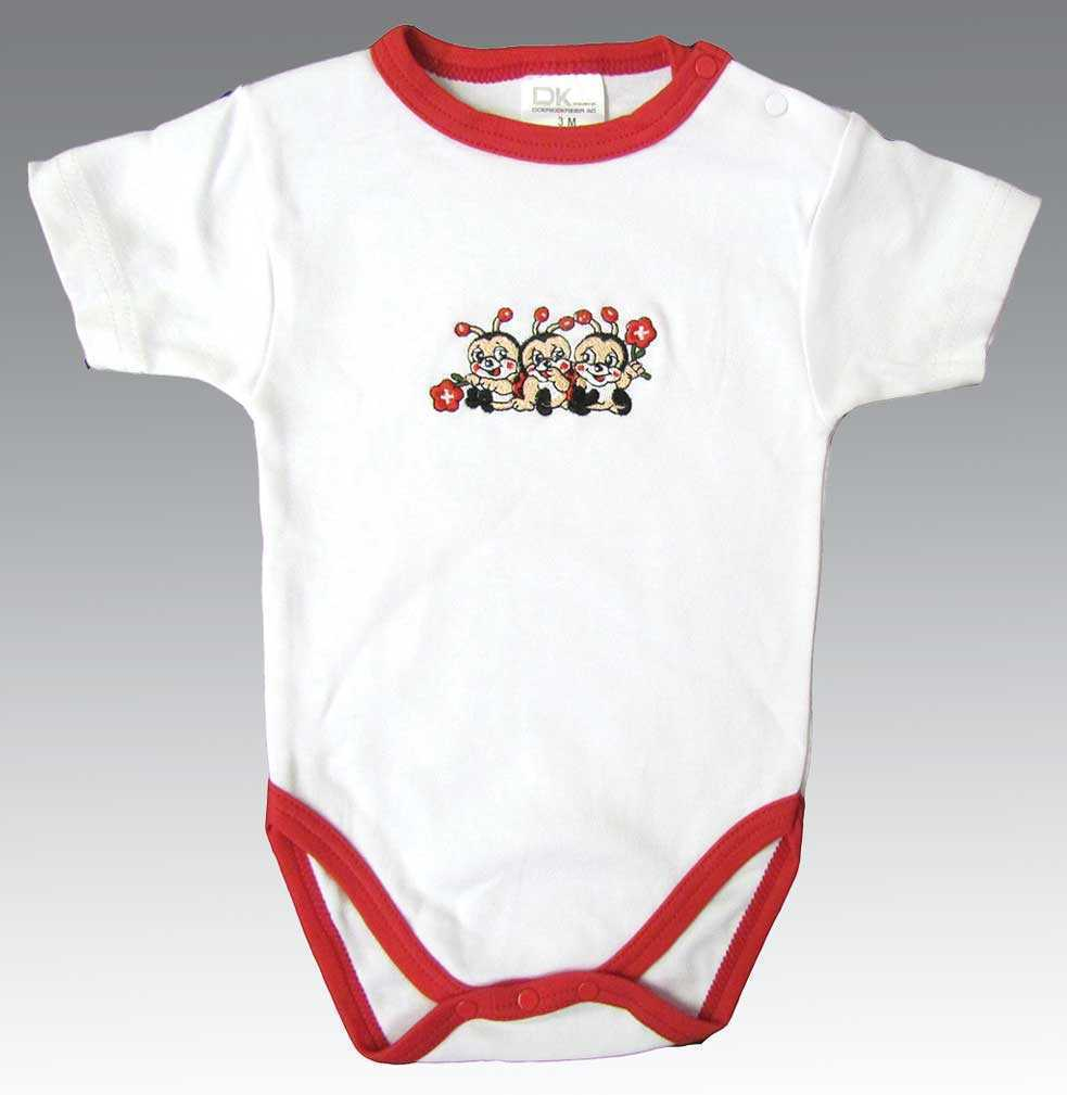 White All-in-one Baby Onesie - Lady Bugs