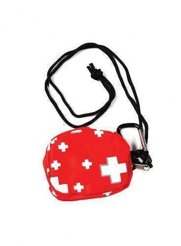 Red Small Purse on a Lanyard