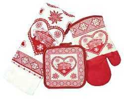 Heart with Chalet Kitchen Towel  Set