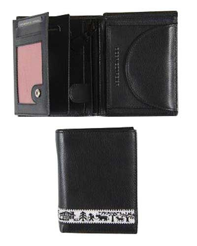Mens Black Nappa Leather Wallet