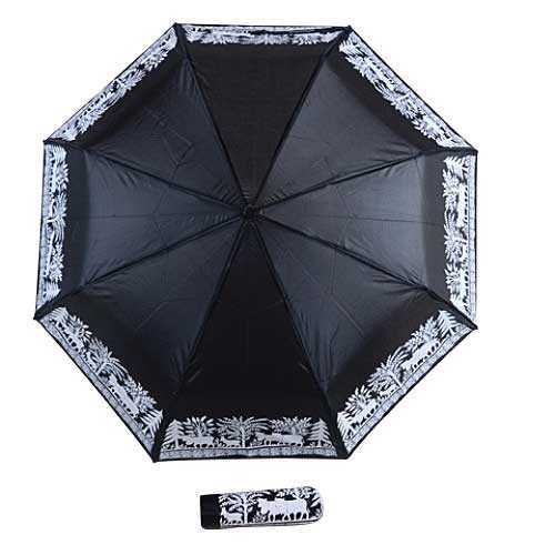 Black nylon umbrella