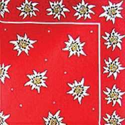 Paper Napkins - Multi Edelweiss Flowers - Red