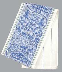 Appenzell Farm Kitchen Towel - Blue Accent