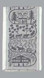 Appenzell Farm Kitchen Towel  - Black Accent