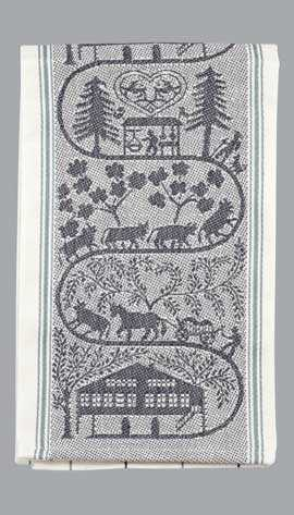 Appenzell Farm Kitchen Towel-Black Accent