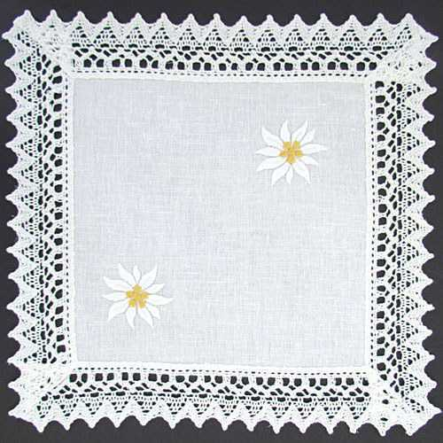 Embroidered Table Runner/long - Edelweiss Flowers