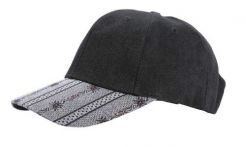 Dark Grey Baseball Cap with Edelweiss Bill