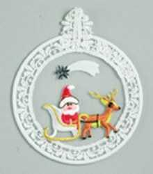 Embroidered Window Picture - Santa's Sleigh