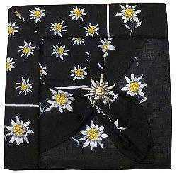 Black Edelweiss Scarf with Clip