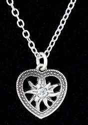 Heart/Edelweiss Necklace