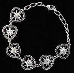 Heart with Edelweiss Bracelet