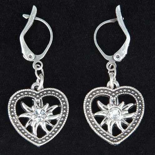 Heart/Edelweiss Earrings