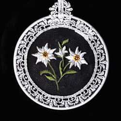 Small Embroidered Window Pictures - Edelweiss